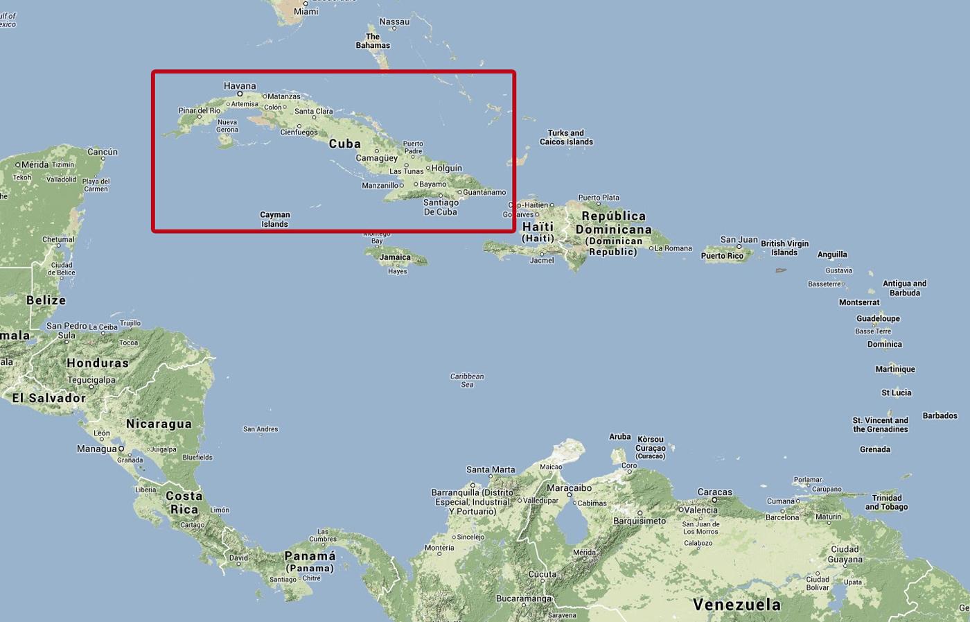 Dateitale-Einschränkungen in der Karibik