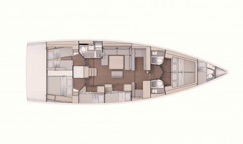 Dufour 530 – Raumwunder mit bis zu 7 Kabinen
