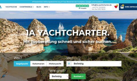 1a Yachtcharter mit neuer Webseite